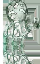 sculpture de Richard Texier d'un rhinocéros portant une terre