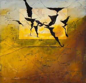 Tableau de Richard Texier aux couleurs sable
