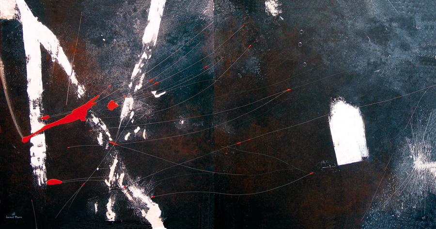 Peinture contemporaine nuit blanche 2 peintre laurent - Peinture noir et blanc moderne ...