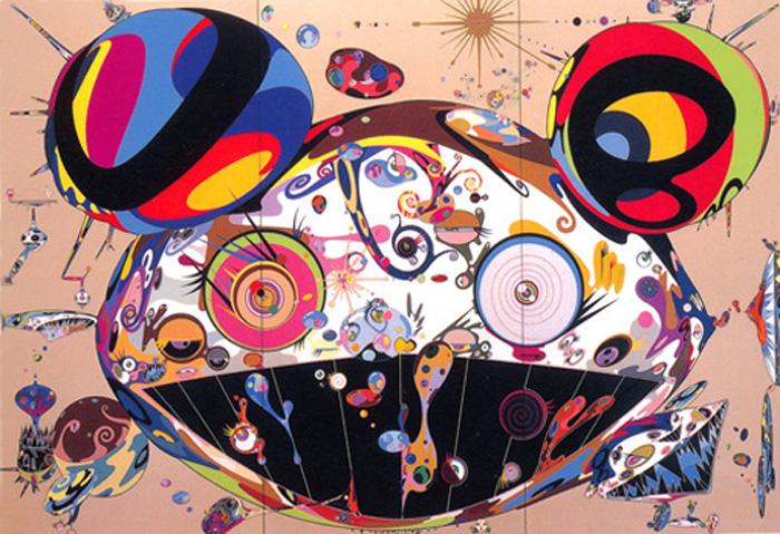 Toile de Takashi Murakami de grand format