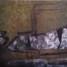 Vue du ciel 3, peinture abstraite