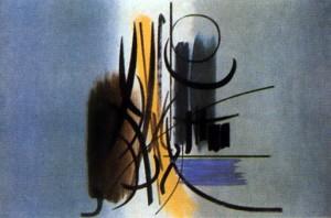Hans Hartun, peinture abstraite de 1951
