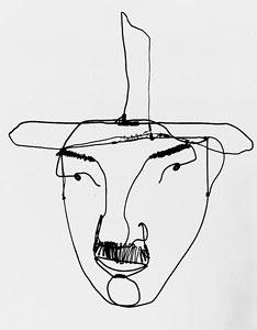 Fernand Leger, 1930, sculpture en fil de fer d'Alexander Calder
