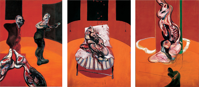 Three Studies for a Crucifixion 1962, par Francis bacon