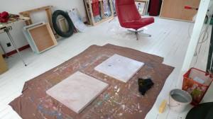 Atelier du peintre contemporain à Saint-Brieuc