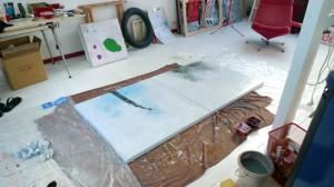 Atelier du peintre contemporain Pop à Saint-Brieuc