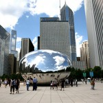 The bean, sculpture monumentale, Chicago, Millenium Park Clood gate