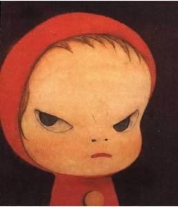 Tableau portrait personnage de Yoshitomo Nara