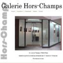 Exposition dans la galerie Hors-Champs à Paris