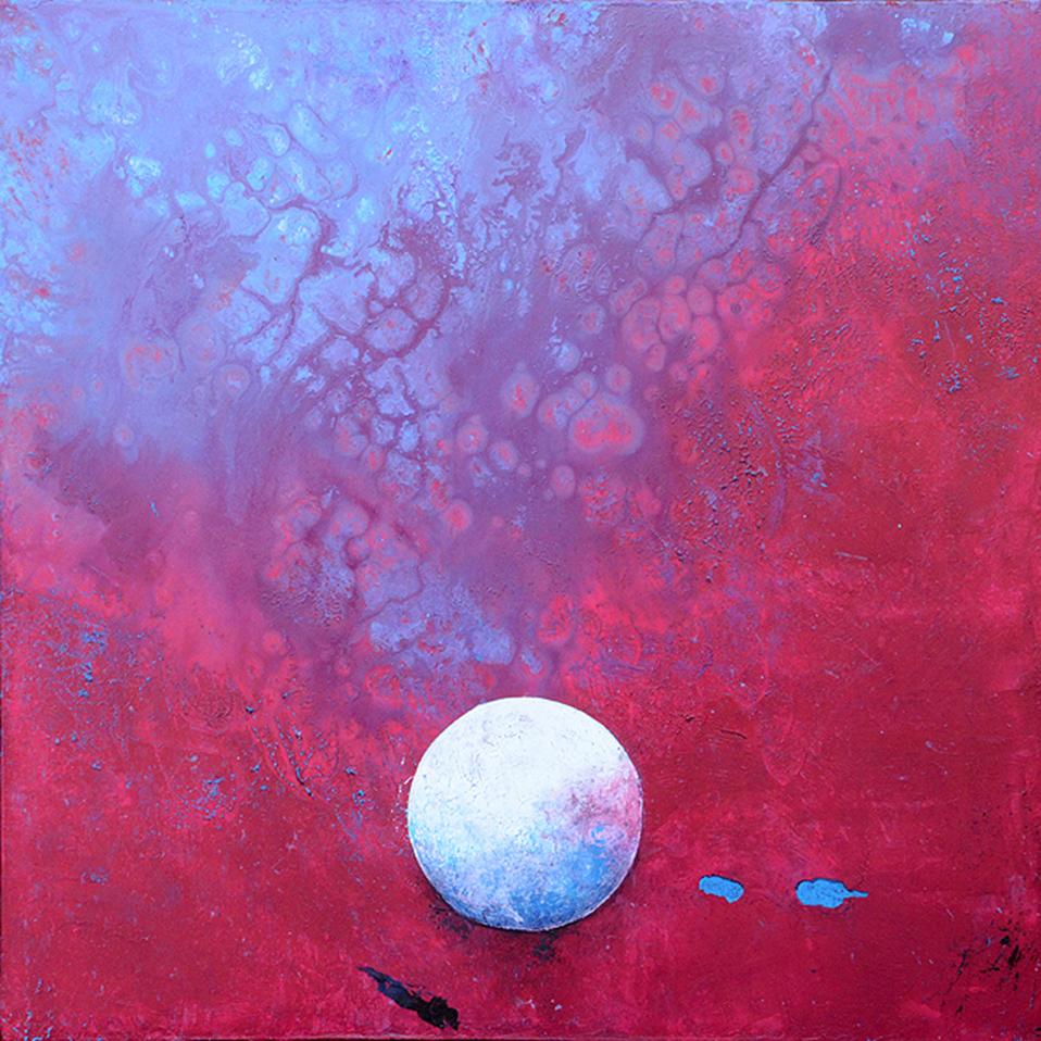 Peinture contemporaine tole rouge artiste peintre for Artistes peintres connus