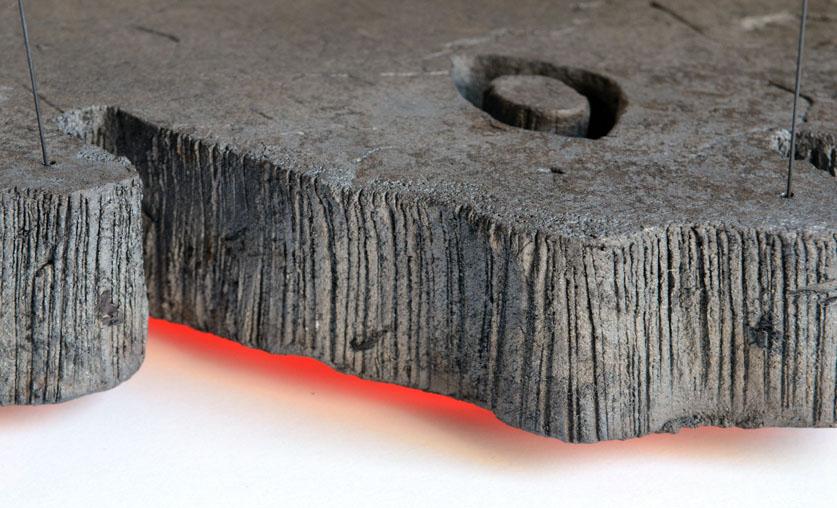 sculpture contemporaine extrusion 1 c ramique terre cuite verre. Black Bedroom Furniture Sets. Home Design Ideas