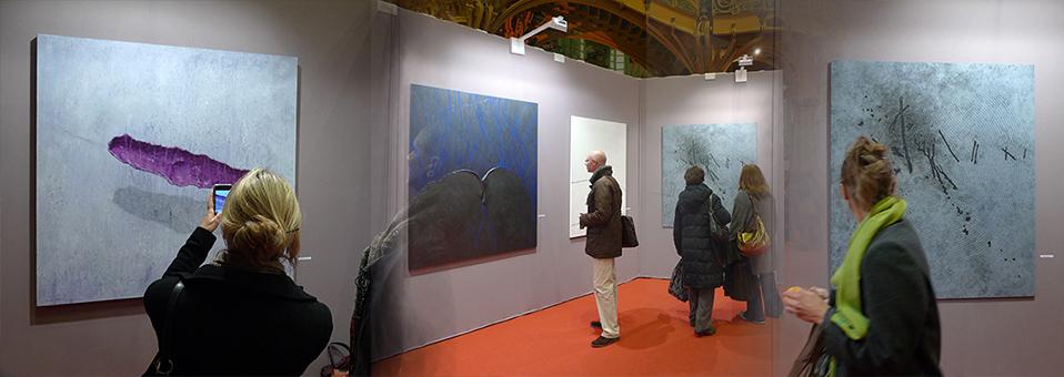 Exposition de l'artiste peintre Laurent Marre au salon comparaison Matsutani Takesada invité