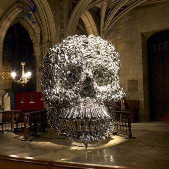 sculpture de Subodh Gupta pour Nuit Blanche 2006