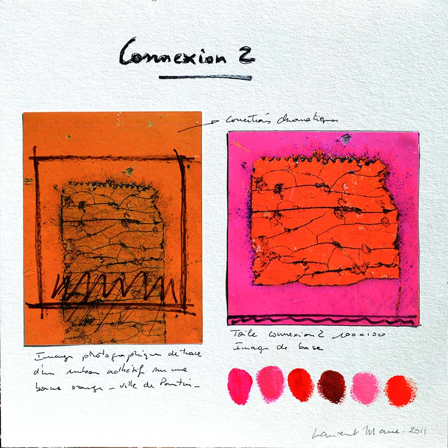 Composition de ma peinture contemporaine Connexion 2