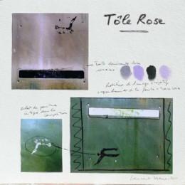 Composition de la peinture Tôle Rose