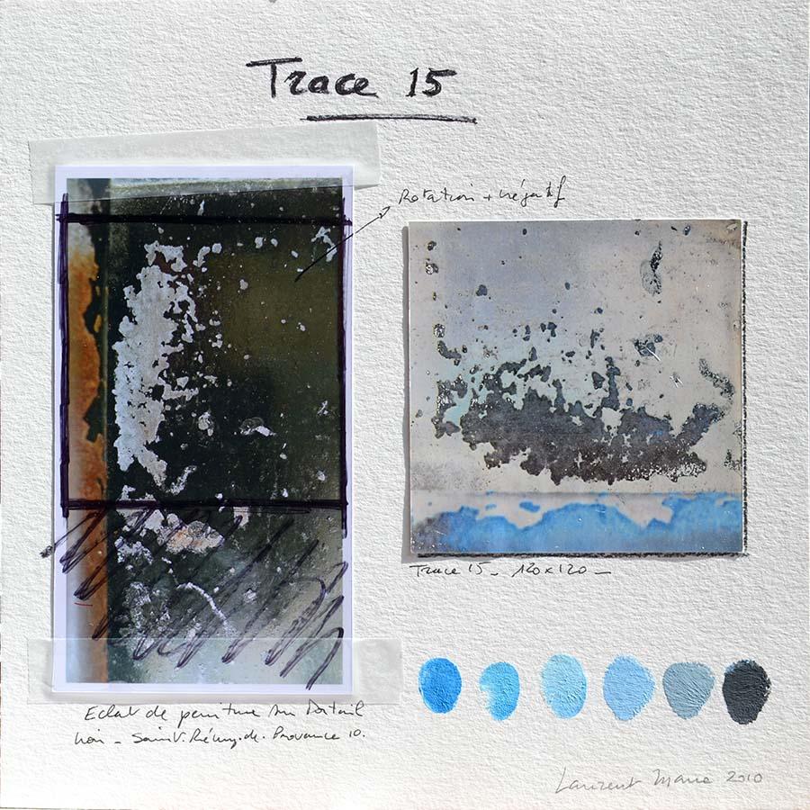 Composition de la peinture Trace15