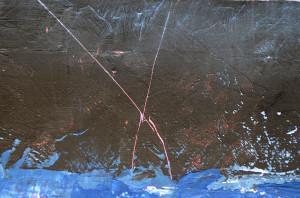 Détail de la peinture contemporaine Suspension