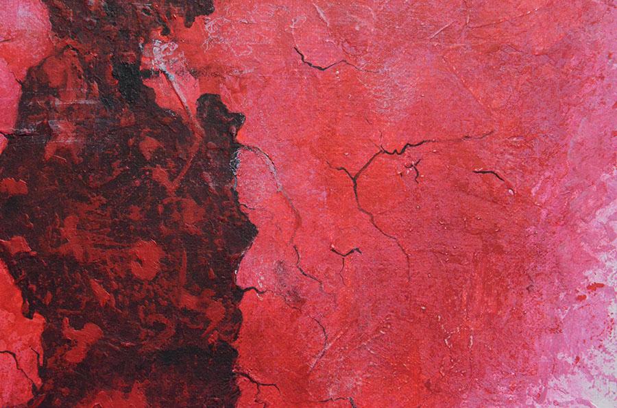 Toile contemporaine Rouge et blanche